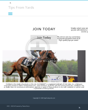 Tips From Yards - High Quality Horse Tipster Service preview. Click for more details