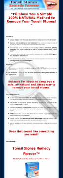 Tonsil Stones Remedy Forever ~ Brand New With A 11.2% Conversion Rate! preview. Click for more details