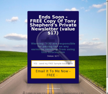 Tony Shepherd's Private Newsletter preview. Click for more details