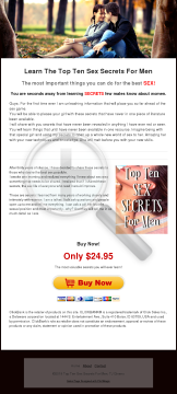 Top 10 Sex Secrets For Men preview. Click for more details