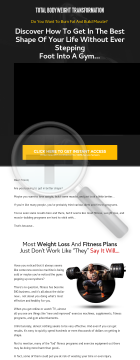 Total Body Weight Transformation | 75% Commissions | No Competition preview. Click for more details