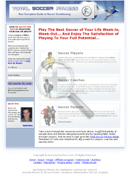 Total Soccer Fitness preview. Click for more details
