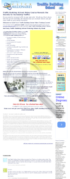 Traffic Building School Daily Training Videos By Email preview. Click for more details