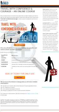 Travel With Confidence & Courage - Tools For Travelers preview. Click for more details