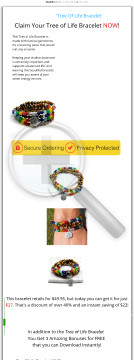 Tree Of Life Bracelet - 60% Comms - Full Upsell/downsell Funnel preview. Click for more details