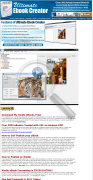 Ultimate Ebook Creator Amazon Kindle preview. Click for more details