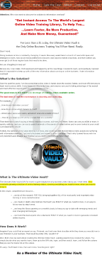 Ultimate Video Vault preview. Click for more details