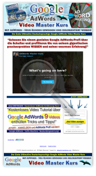 Ultimativer Google Adwords Master Video Kurs preview. Click for more details