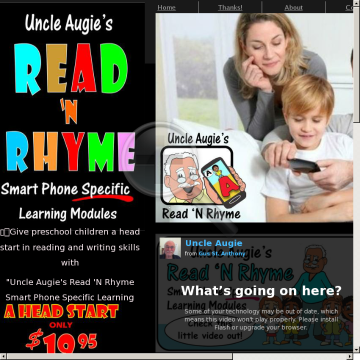 Uncle Augie's Read 'n Rhyme Smart Phone Specific Learning Modules preview. Click for more details