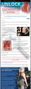 Unlock Your Glutes - Conversion Monster! preview. Click for more details