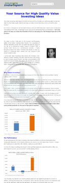 Value Investing India Report - Recurring Commissions preview. Click for more details
