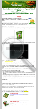Vegetarian Formula. How To Become A Vegetarian. 75% Commission preview. Click for more details