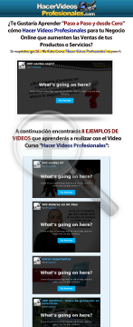Video Curso Hacer Videos Profesionales - 50% Comision preview. Click for more details