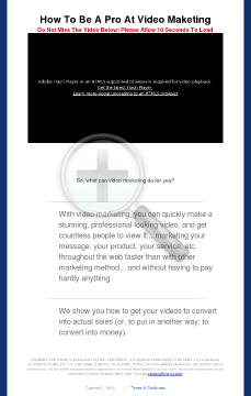 Video Marketing Course preview. Click for more details