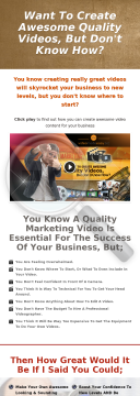 Video Unleashed: Essential Secrets For Creating Knockout Videos preview. Click for more details