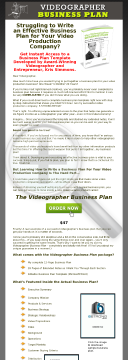 Videographer Business Plan preview. Click for more details