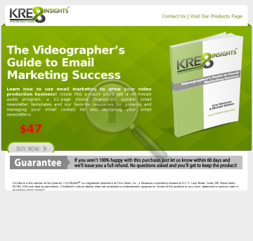 Videographer's Guide To Email Marketing Succeess preview. Click for more details