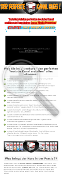 Videokurs Der Perfekte Youtube Kanal preview. Click for more details