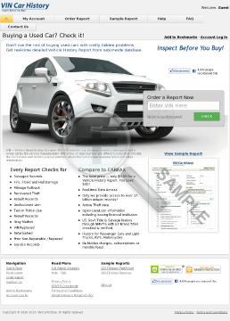 Vincarhistory.com - Vehicle History Reports preview. Click for more details