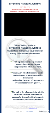 When Writing Matters: Effective Financial Writing preview. Click for more details