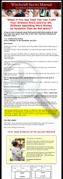 Witchcraft Secret Manual. 75% - Great Sales! preview. Click for more details
