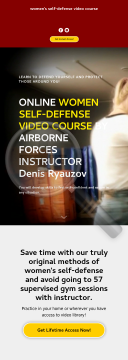 Women's Self-defense Video Course By Airborne Forces Instructor preview. Click for more details