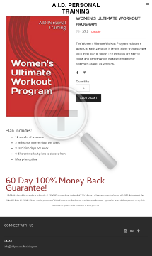 Women's Ultimate Workout Program preview. Click for more details