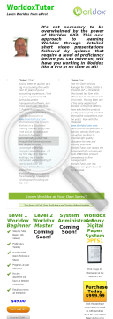 Worldox Document Management Online Training preview. Click for more details