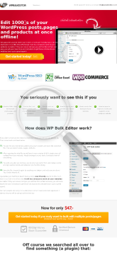 Wp Bulk Editor - #1 WordPress Plugin - Up To $32 Per Sale preview. Click for more details