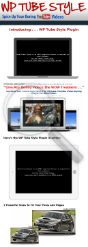 Wp Tube Style Plugin preview. Click for more details