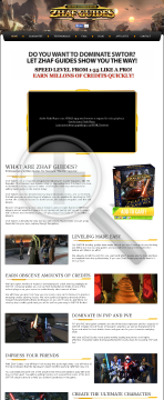 Zhaf Swtor Guides - High Quality Sales Page preview. Click for more details